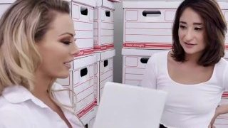 Milf & Young Secretary Bang The Boss In Naughty Office Romp