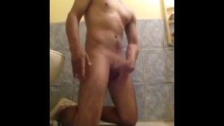 masturbates in his bath masturbates in the basu of his house when his wife